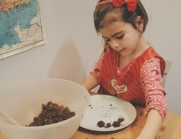 Home education craft: Christmas chocolate truffles