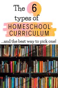 homeschool curriculum styles for preschooll, kindergarten and high school