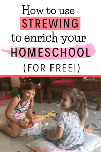 strewing ideas, homeschooling, unschooling