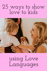 Mother and baby bonding; as children get older it is great to have some Love Language tools to help maintain the loving connection.