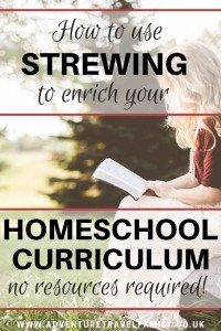 strewing ideas for homeschooling curriculum