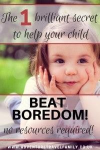bored happy child