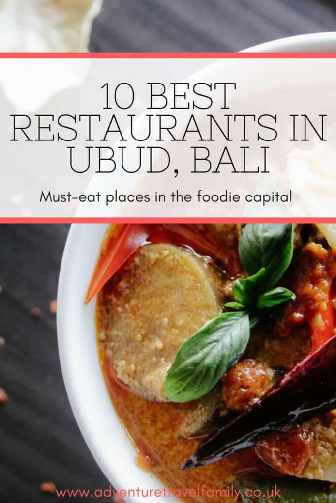 best restaurants in ubud bali