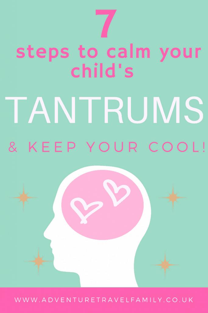 child in temper tantrum