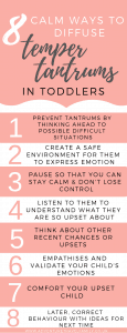 how to deal with temper tantrums in toddlers