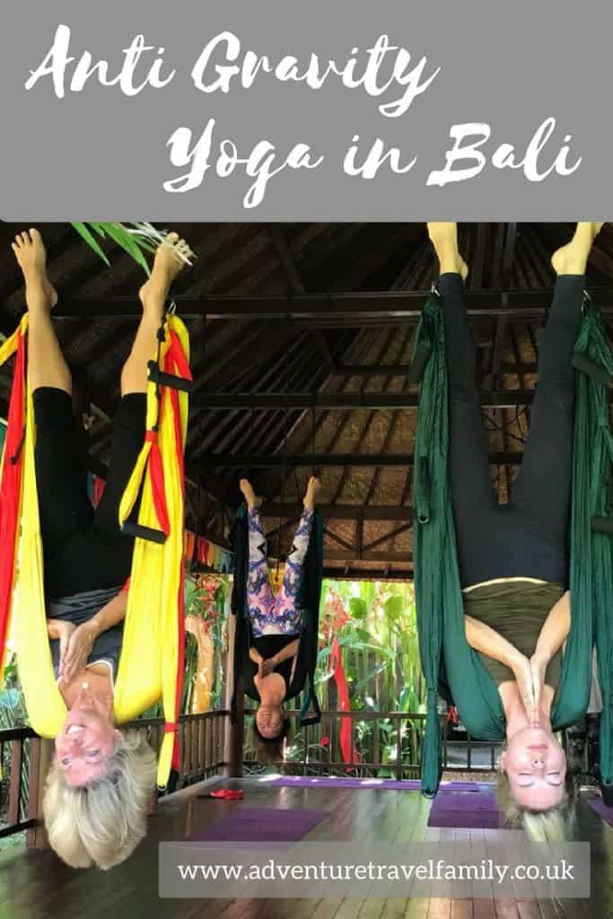 aerial yoga, anti gravity yoga, bali travel blog, yoga in bali