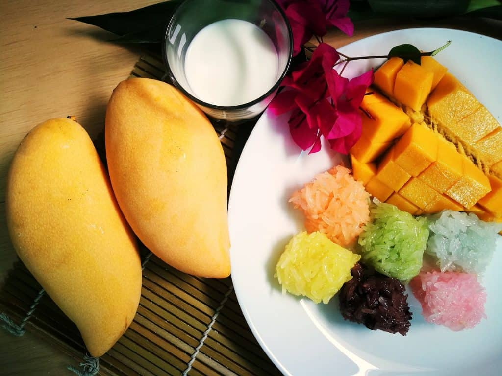 vegan thailand mango sticky rice