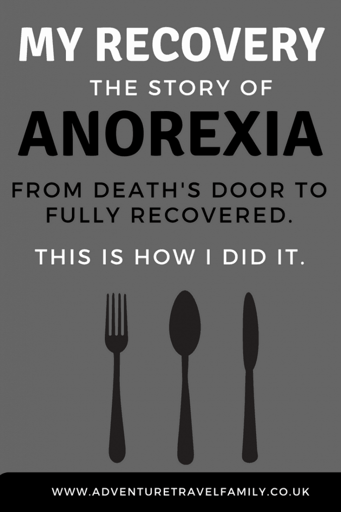 knife and fork with anorexia text