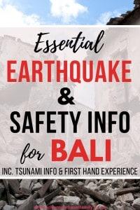 bali earthquake is bali safe