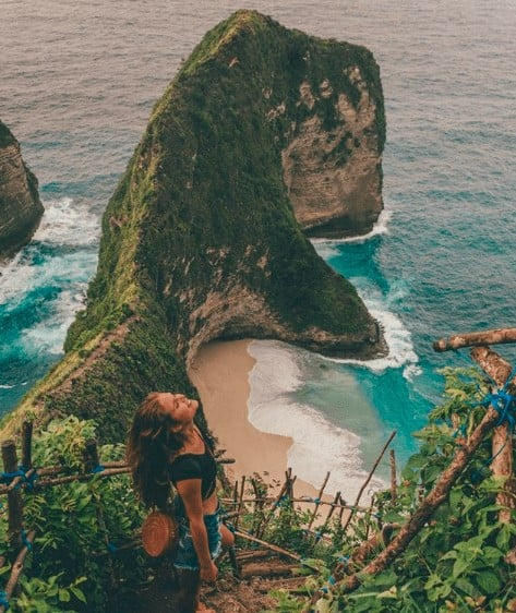 kelingking beach instagram nusa penida