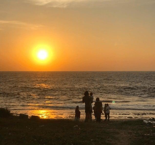sri lanka negombo sunset