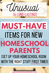 what do i need for homeschooling