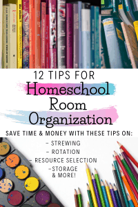 homeschool room organization