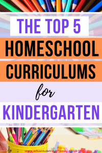 homeschooling curriculum materials for kindergarten