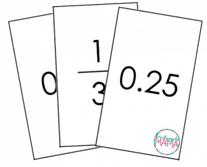 decimals to fractions math game