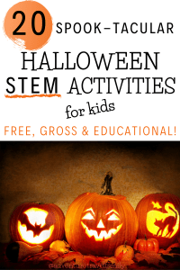 halloween STEM activities for kids- create your own halloween science lab!