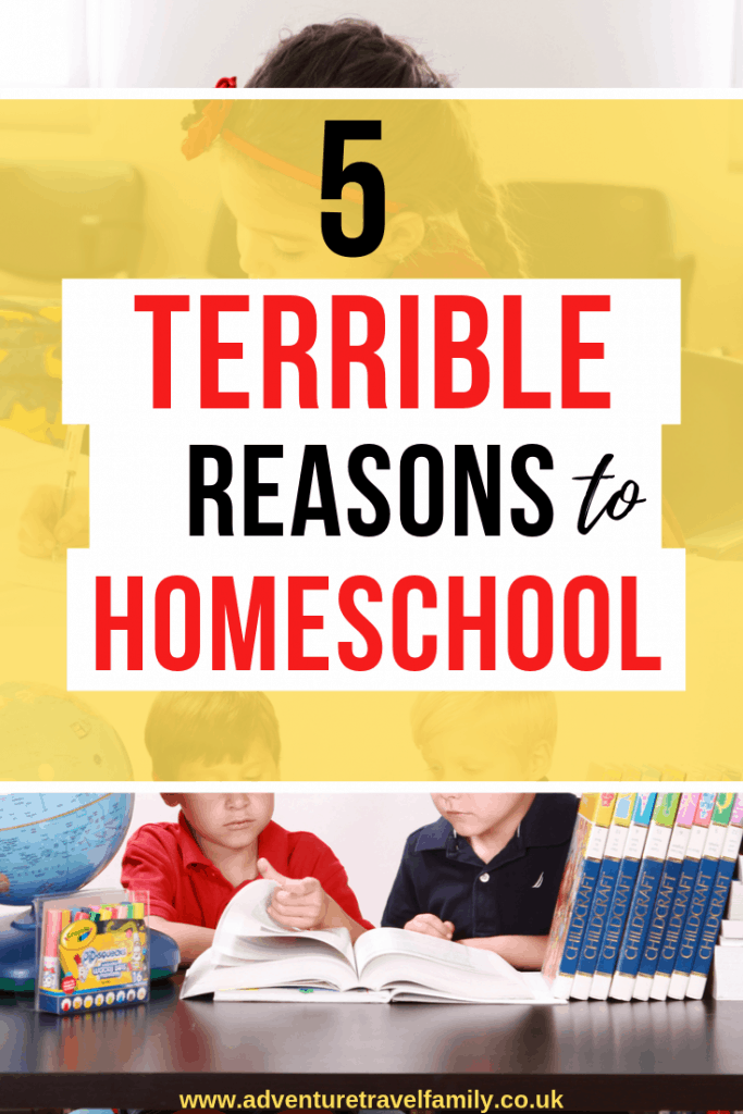 bad reasons to homeschool