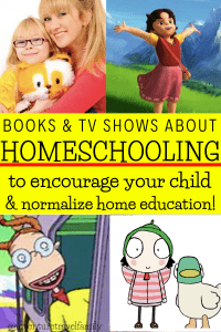 tv shows with homeschooled kids & books with homeschooled kids
