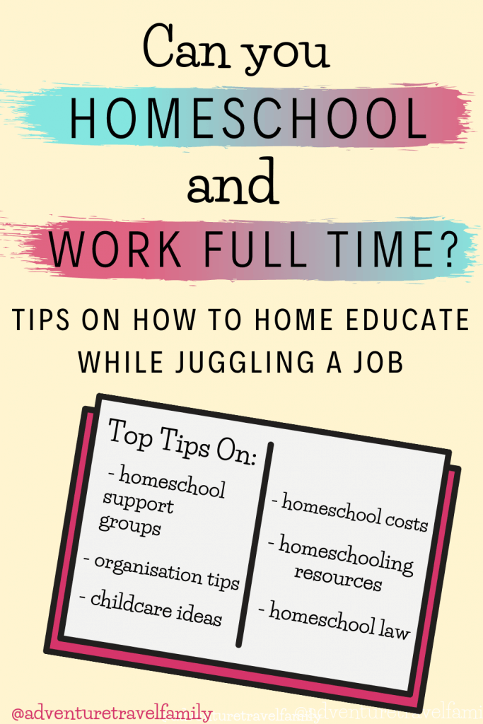 can you homeschool and work full time job