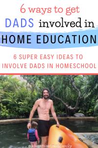 homeschooling dad in bali