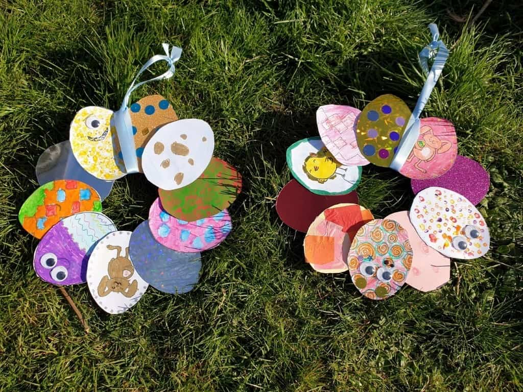 easter crafts and activities for kids egg wreath