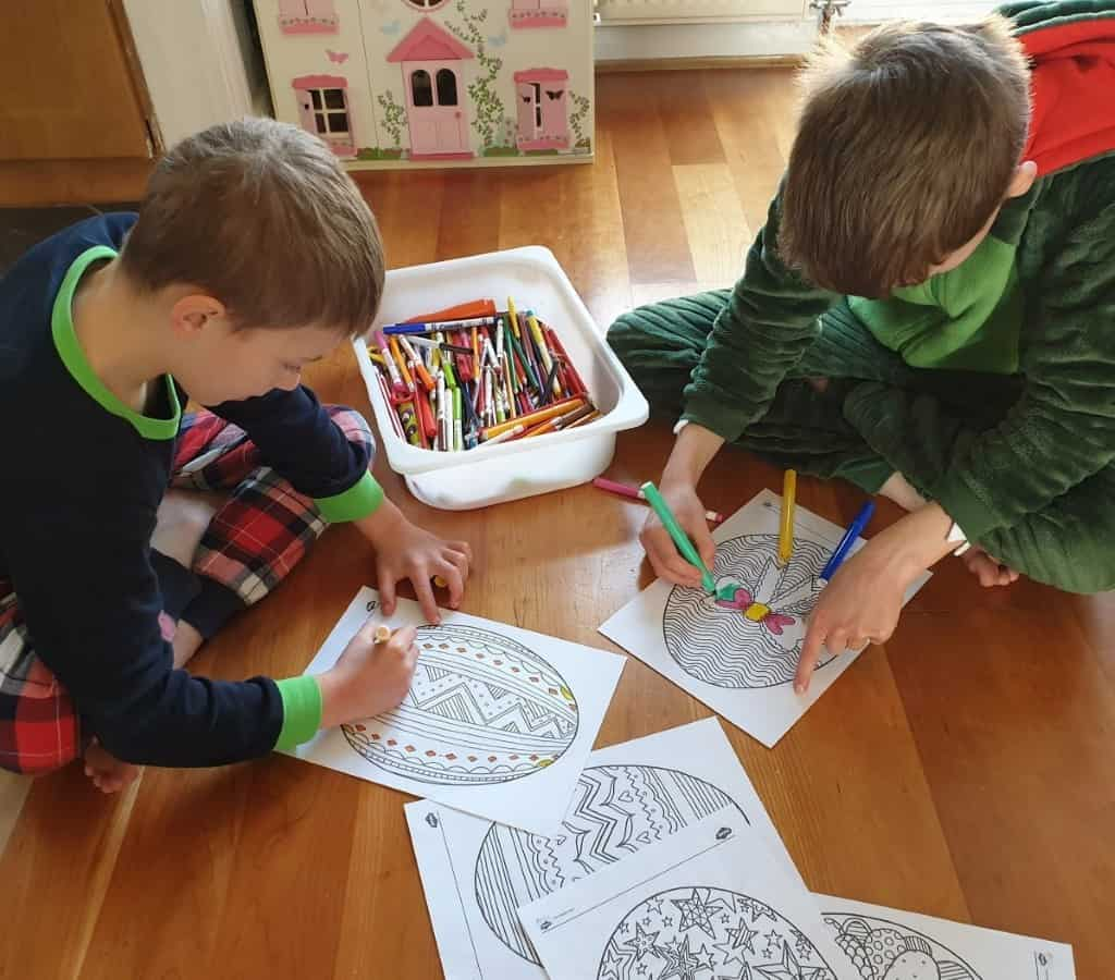 easter mindfulness colouring for kids
