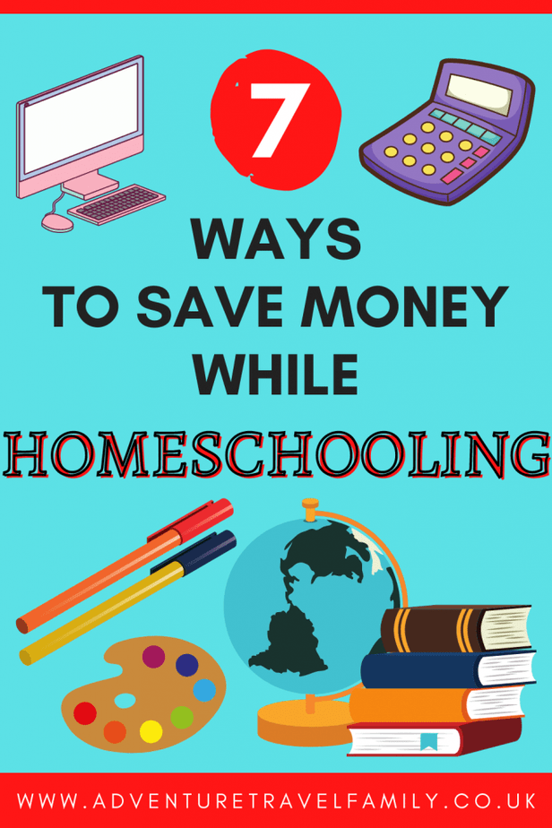 how to save money on homeschooling, books, art supplies, a calculator, computer and a globe